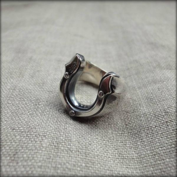 画像1: LIQUID HORSESHOE RING (1)